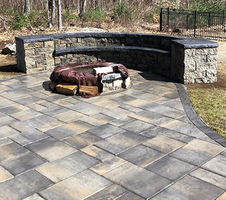 Paver Patios and Fire Pits Inspiration by Firmly Rooted