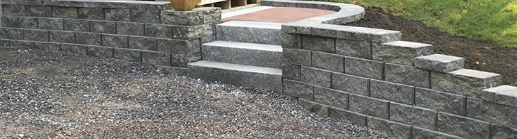 NH Hardscaping: Retaining and Garden Walls